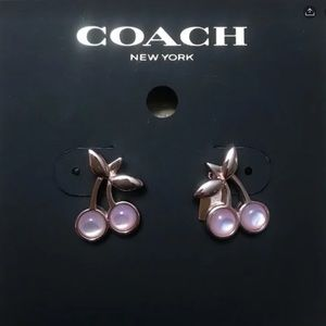Coach Cherry  Earrings Authentic